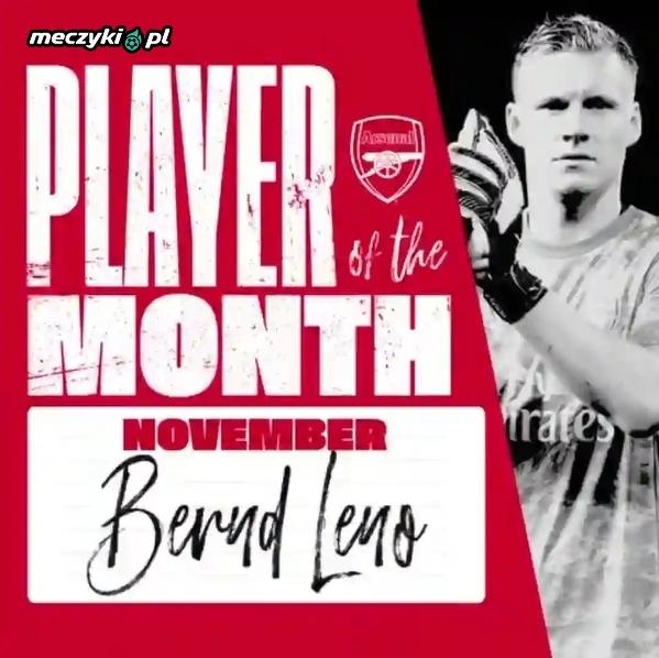 Bernd Leno piłkarzem miesiąca w Arsenalu