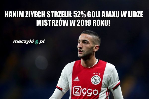 Wpływ Ziyecha na grę Ajaxu w Lidze Mistrzów