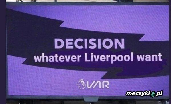 VAR w meczach Liverpoolu