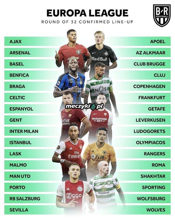 Wszystkie kluby, które zakwalifikowały się do fazy pucharowej Ligi Europy