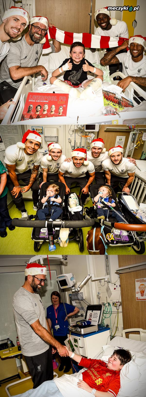 Piłkarze i trener Liverpoolu odwiedzili miejscowy szpital dla dzieci