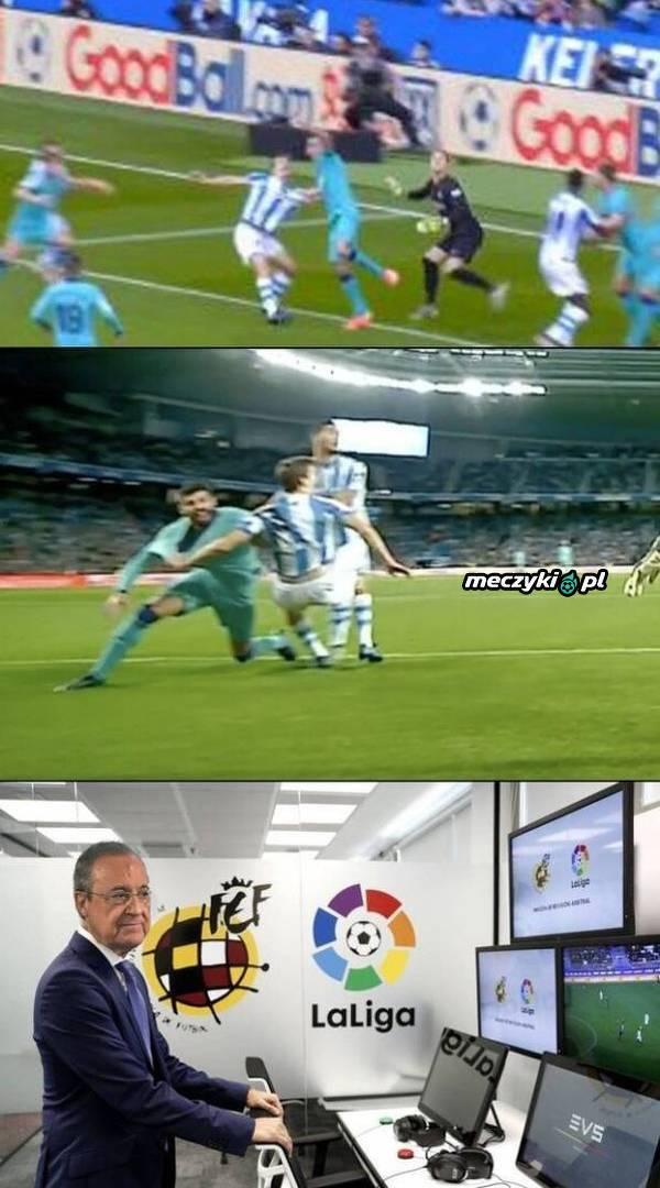 To on odpowiadał za VAR w meczu Sociedad-Barca