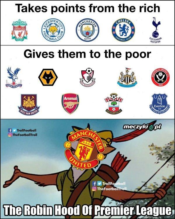 Manchester United niczym Robin Hood