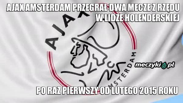 Zniżka formy Ajaxu Amsterdam