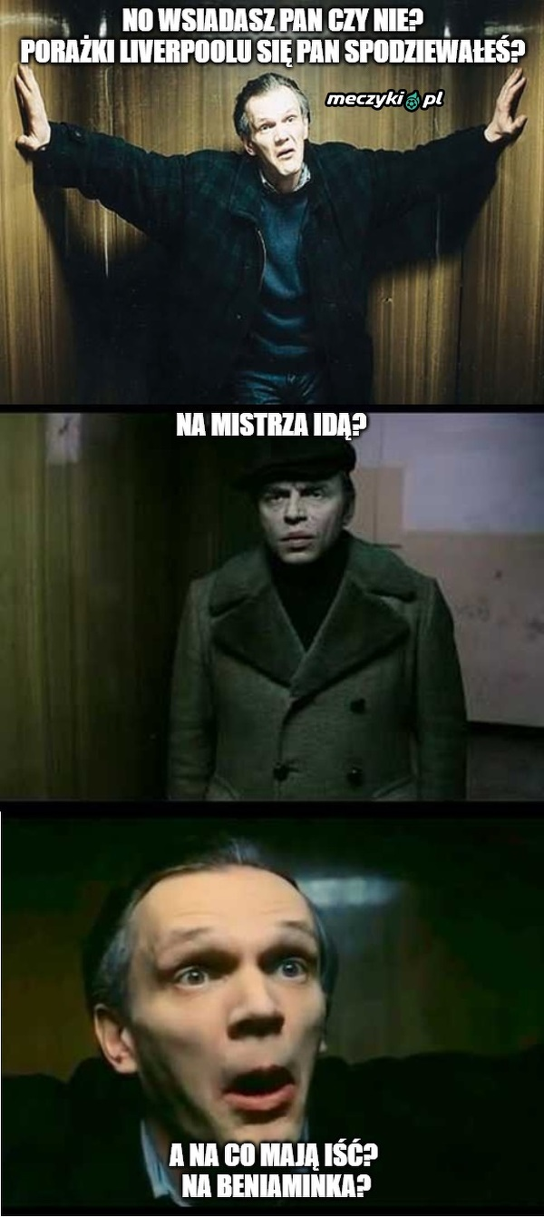 Słynna scena w windzie w wersji kibicowskiej