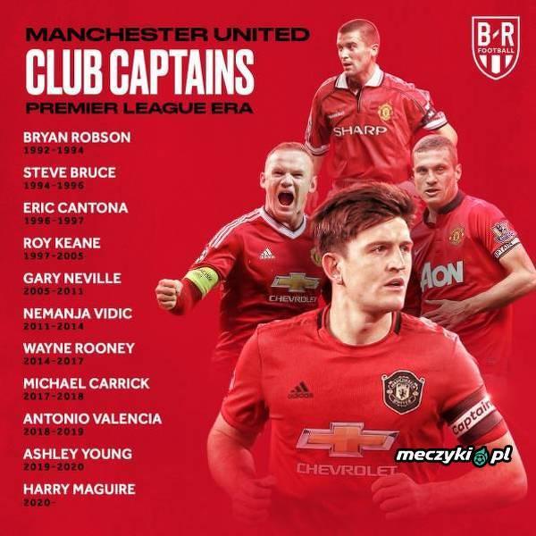 Kapitanowie Manchesteru United w erze Premier League