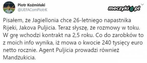 Jagiellonia chce Chorwata