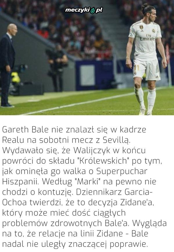 Kolejne problemy Bale'a w Realu