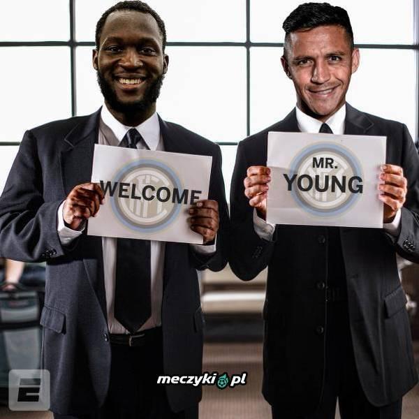 Starzy kumple z United przywitali Younga w Interze