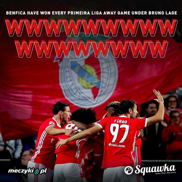 Benfica wygrała 17 wyjazdowych meczów z rzędu w lidze