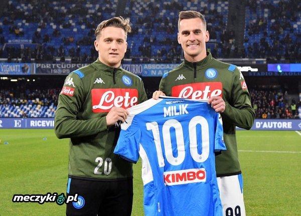 Arkadiusz Milik rozgrywa dziś 100. mecz w barwach Napoli