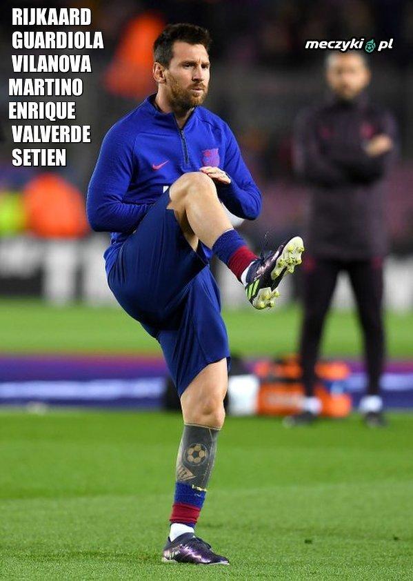 Messi będzie miał siódmego trenera w Barcelonie