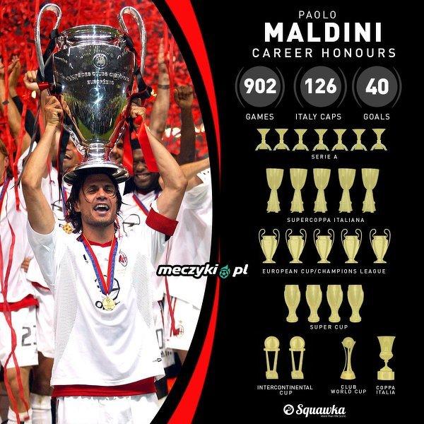 """Paolo Maldini i jego """"bogata"""" kariera"""