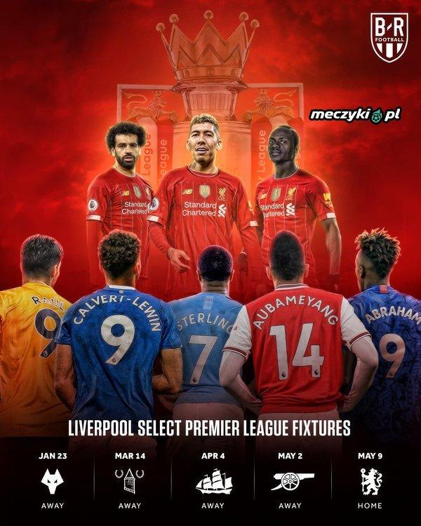 Najtrudniejsi rywale, jacy zostali Liverpoolowi w terminarzu Premier League