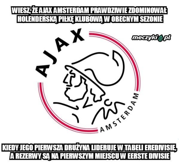 Ajax zdominował dwa najwyższe szczeble rozgrywkowe w Holandii