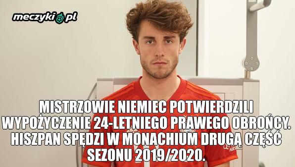 Odriozola wypożyczony do Bayernu