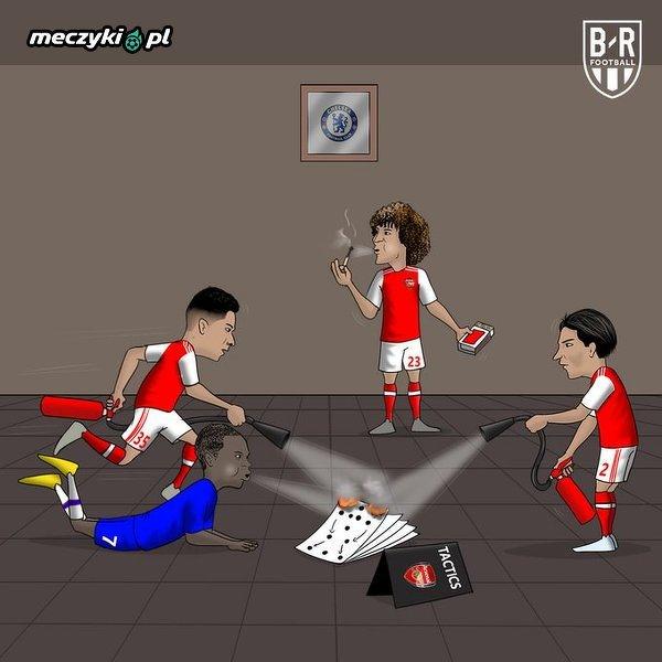 Piłkarze Arsenalu ugasili wczoraj pożar