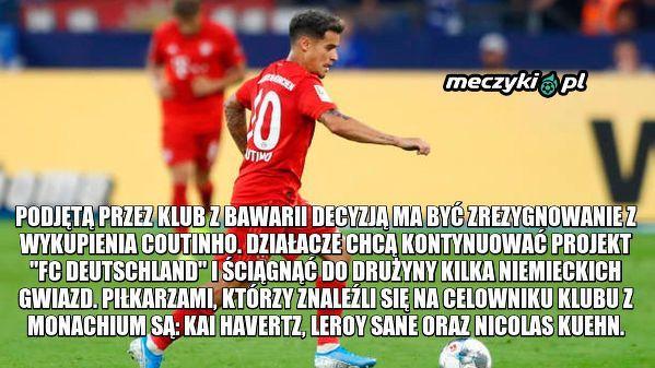 Bayern zrezygnuje z Coutinho