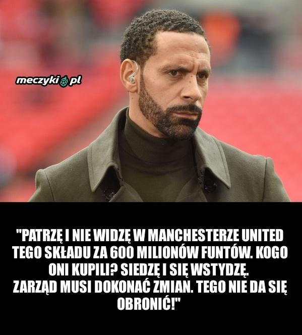 Rio Ferdinand krytykuje Manchester United