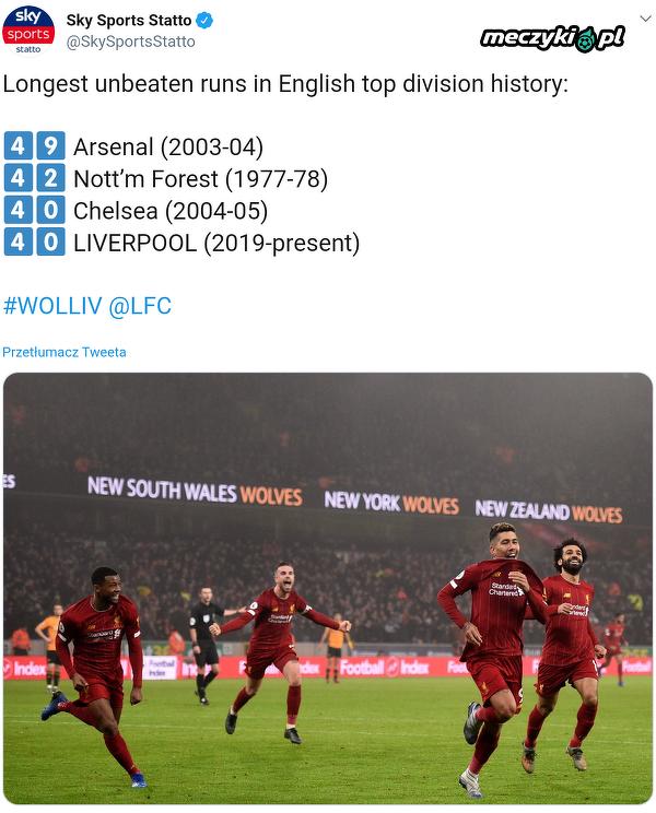 40. mecz bez porażki w Premier League