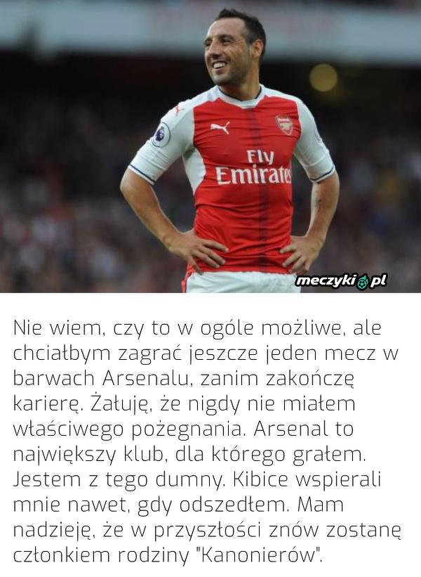 Santi Cazorla chciałby jeszcze zagrać w Arsenalu