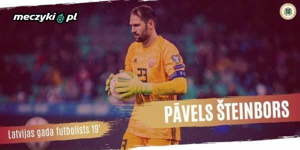 Bramkarz Arki Gdynia Pavels Steinbors został wybrany w Łotwie piłkarzem roku
