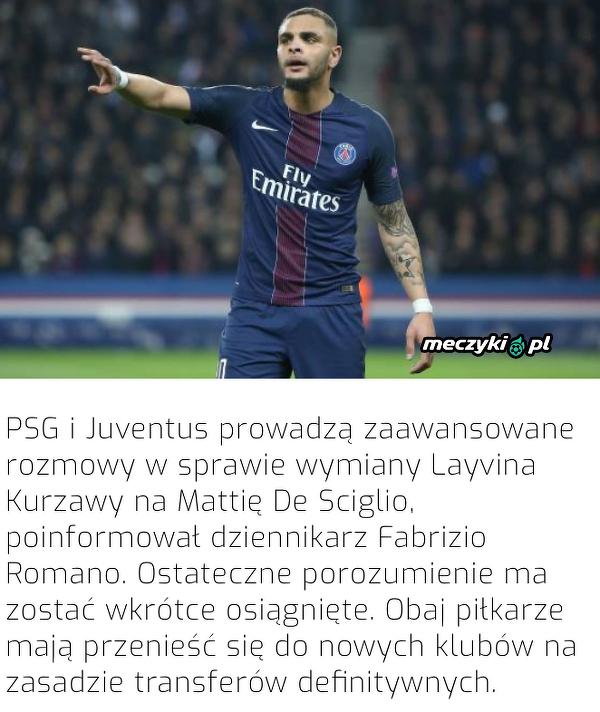 Szykuje się wielka wymiana na linii PSG-Juve