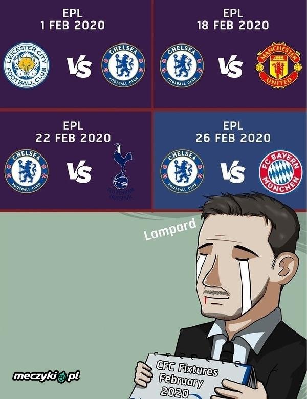 Luty to będzie trudny miesiąc dla Chelsea