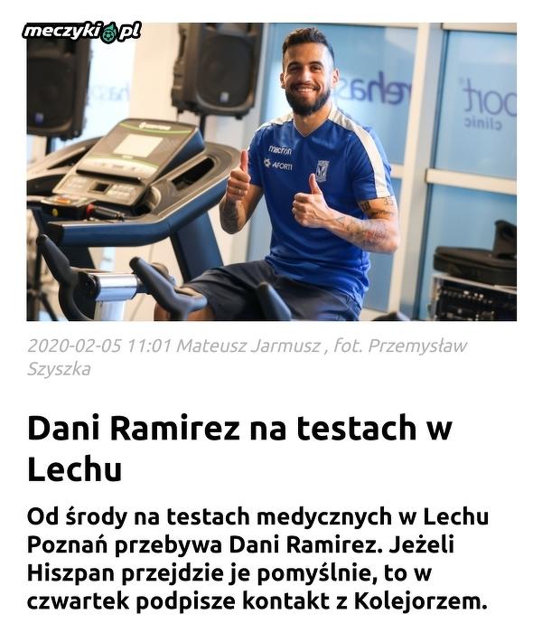 Dani Ramirez już na testach w Lechu
