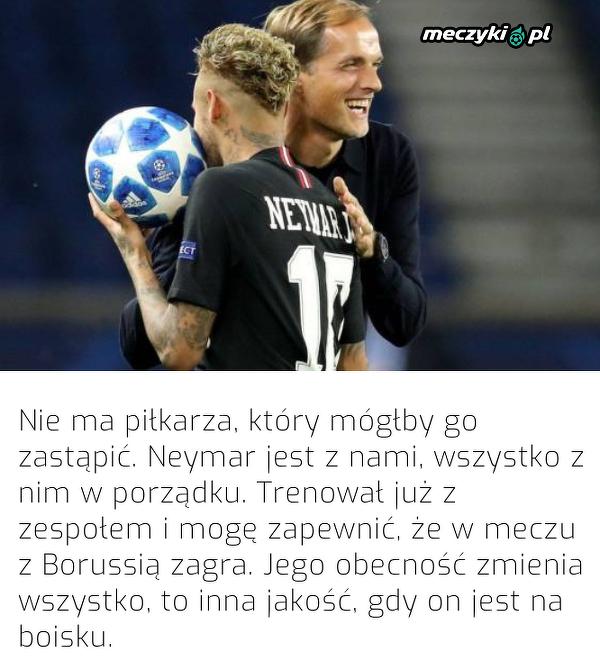 Tuchel potwierdził, że Neymar zagra w meczu z BVB