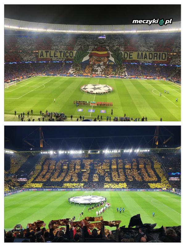 Dzisiejsze oprawy w Madrycie i Dortmundzie