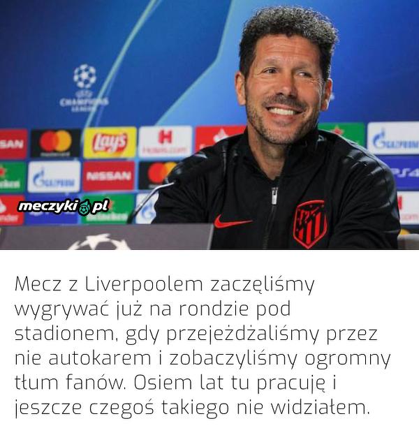 Atletico wygrało z Liverpoolem dzięki swoim kibicom