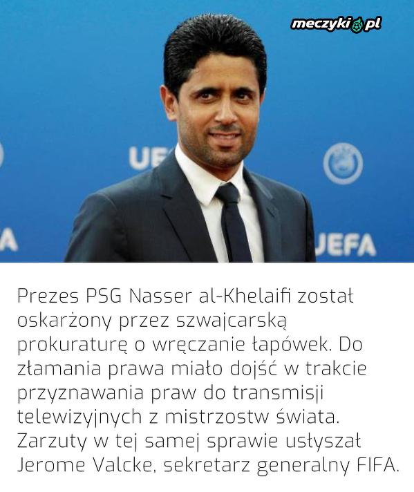 Prezes PSG został oskarżony o korupcję