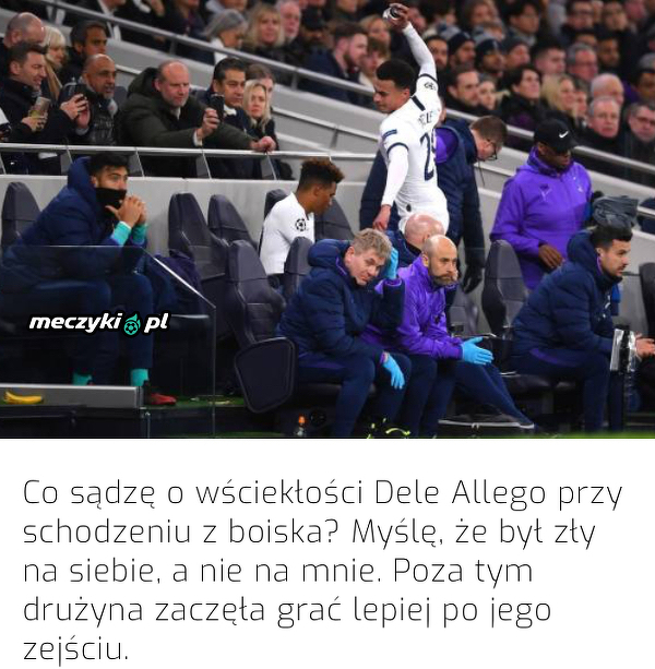 Jose Mourinho skomentował reakcje Dele Allego na zmianę