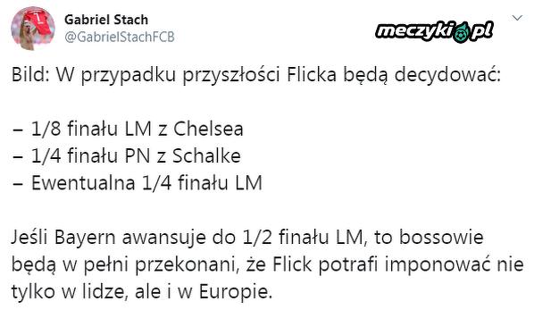 Półfinał LM zagwarantuje Flickowi miejsce w Bayernie