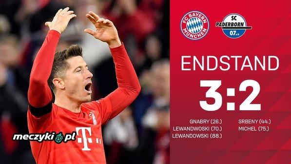 """""""Lewy"""" zapewnia Bayernowi kolejne 3 punkty"""