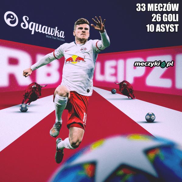 Timo Werner osiągnął teraz podwójną liczbę bramek i asyst we wszystkich rozgrywkach w tym sezonie