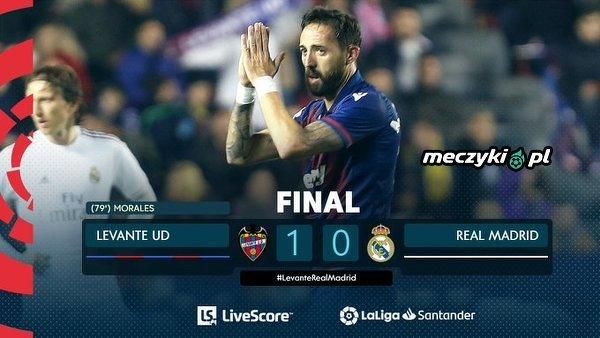 Real Madryt przegrywa z Levante i traci pozycję lidera La Liga