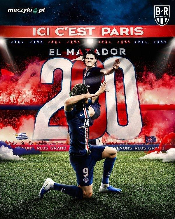 Edinson Cavani to pierwszy piłkarz, który strzelił 200 bramek dla PSG (we wszystkich rozgrywkach)