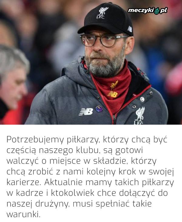 Takich piłkarzy potrzebuje Liverpool
