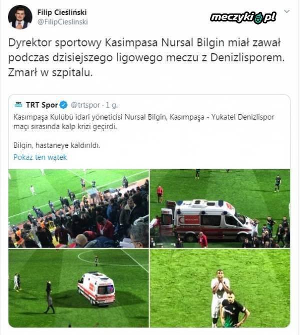 Tragedia podczas meczu w lidze tureckiej