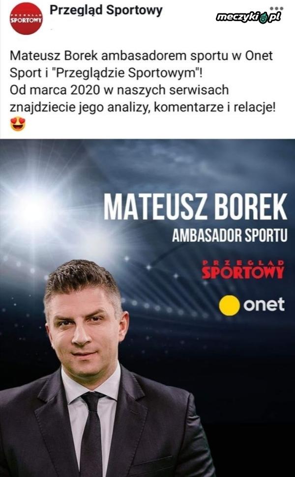 Mateusz Borek ponownie rozpoczyna współpracę z Przeglądem Sportowym