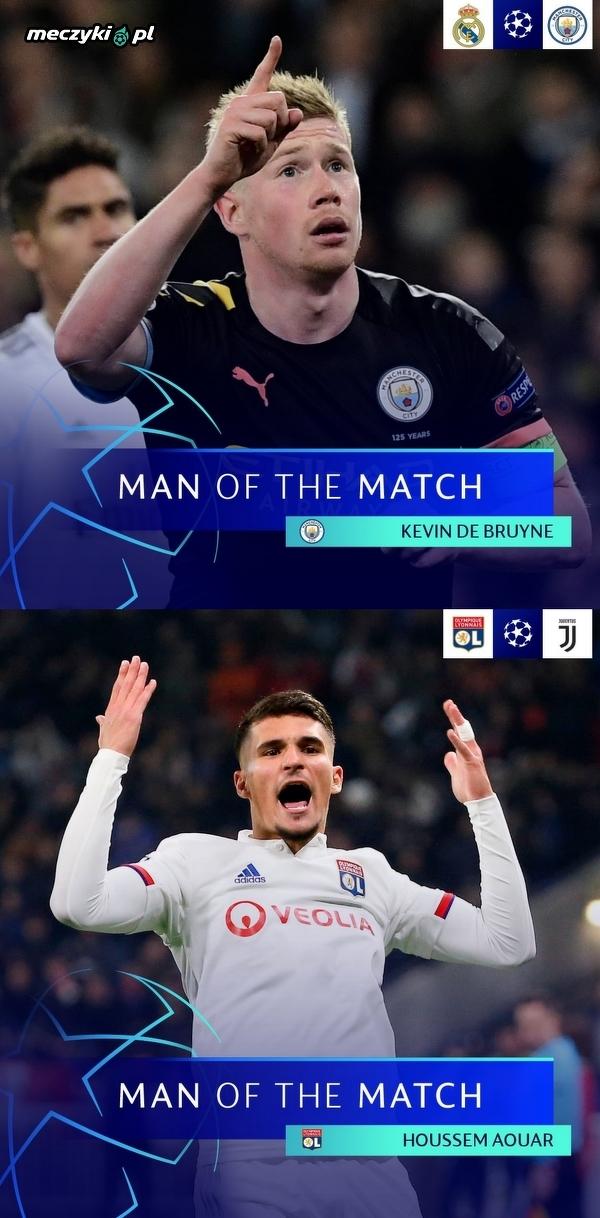 Najlepsi piłkarze dzisiejszych meczów wg UEFA