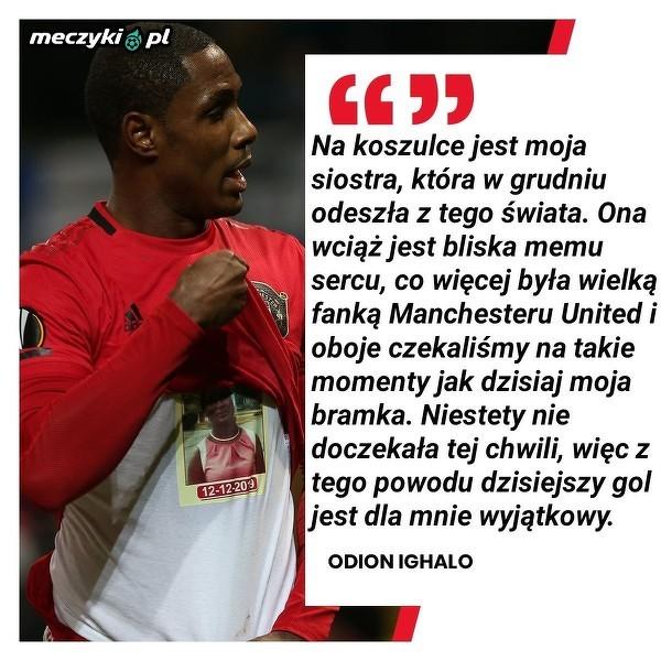 Odion Ighalo z Manchesteru United o swojej dedykacji dla siostry