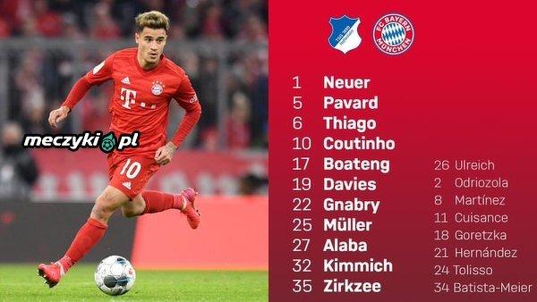 XI Bayernu na mecz z Hoffenheim. Jak Monachijczycy poradzą sobie dzisiaj bez Lewandowskiego?