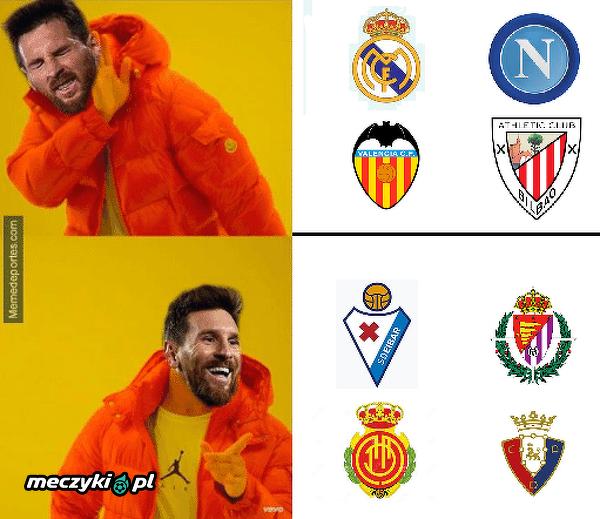 Messi ostatnio ma problemy z silnymi rywalami