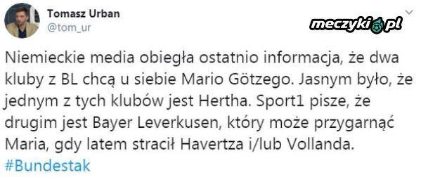 Dwa kluby zainteresowane Mario Götze
