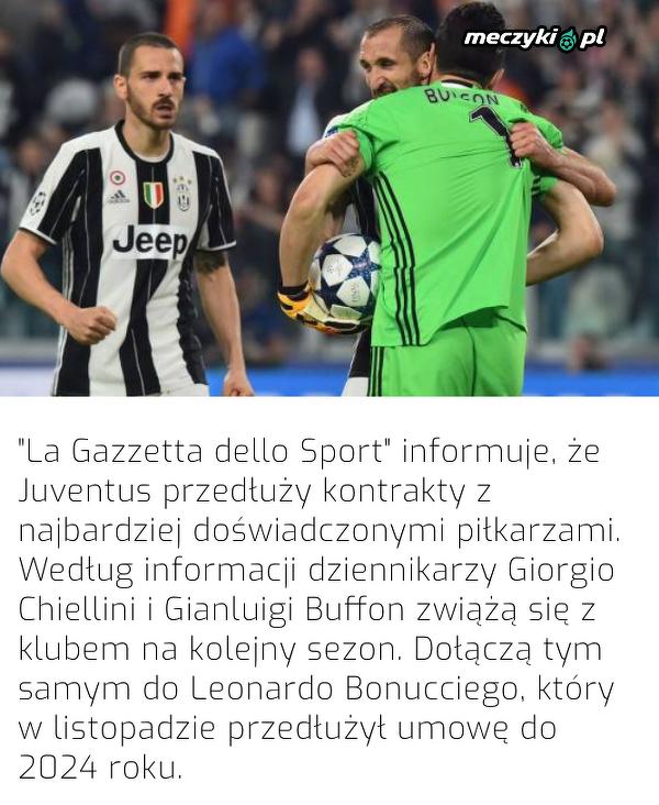 Juventus przedłuży umowy z doświadczonymi piłkarzami