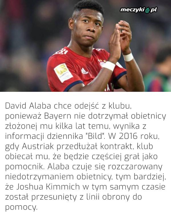 Dlatego David Alaba planuje odejść z Bayernu