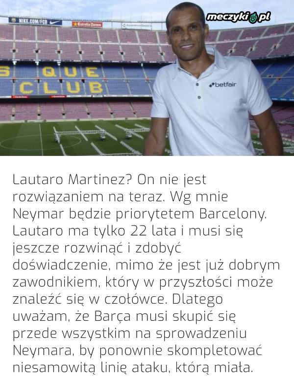 Rivaldo doradza Barcelonie transfer